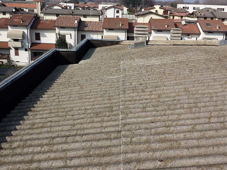 Bonifica amianto e rifacimento tetto, Gambolò