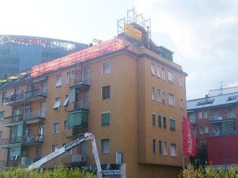 realizzazione nuova copertura di un tetto a milano, zona lorenteggio