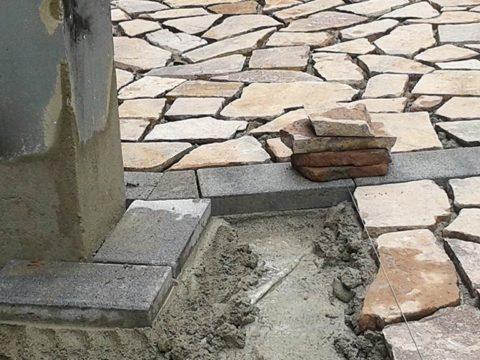 realizzazione pavimentazione in Oppus Incertum a milano