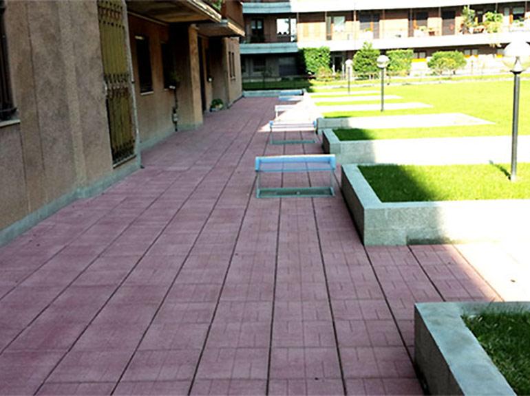 rifacimento pavimento esterno a Pavia